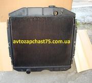 Радиатор Газ 53 медный,  3-х рядный